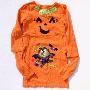 Bundle of Girls Jumping Beans Halloween Shirts 3T